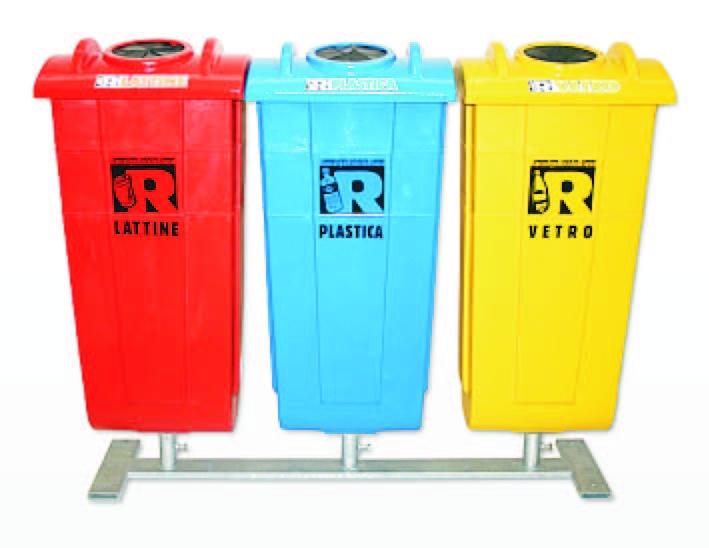 Cestini portarifiuti in plastica for Contenitori raccolta differenziata brico