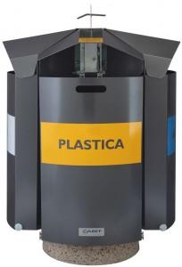 SixBox B20 Antracite Frontale Contenitore porta rifiuti